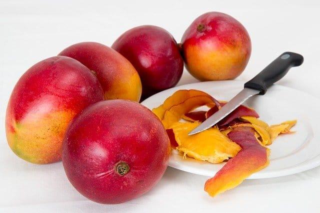 Can guinea pigs eat mango peeling?