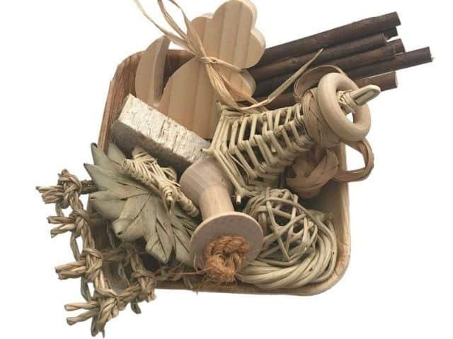 esty Natural Chews Gift Basket For Guinea pig Guinea pigs