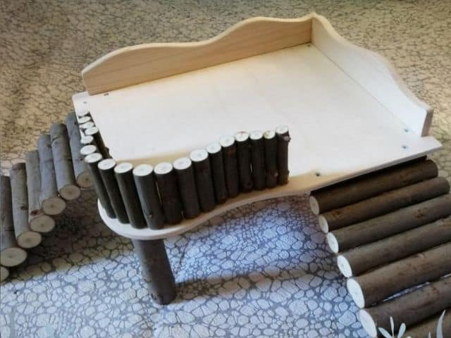 esty Platform with a fence and 2 ramps for Guinea pigs