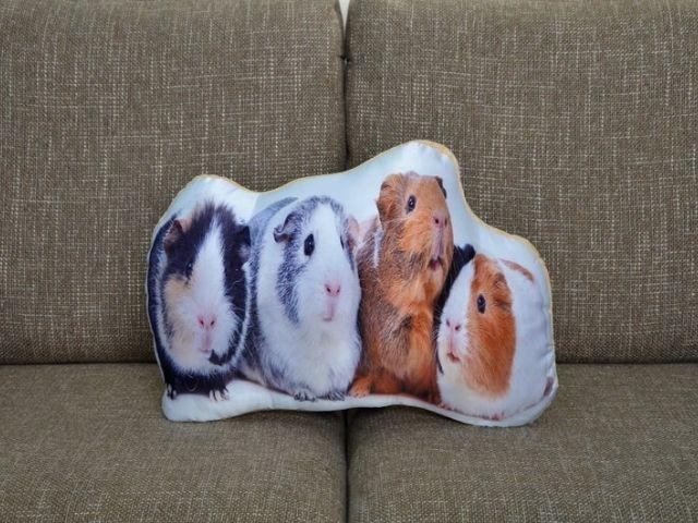 etsy Adorable Guinea Pig Shaped Cushion